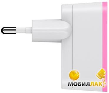 Belkin USB Home Charger (220V, USB 2.1Amp), Белый/Розовый (F8J052vfPNK) MobilLuck.com.ua 364.000