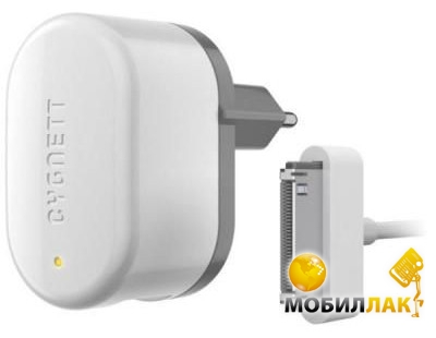 Cygnett Wall Charger 1A Apple 30pin USB cable (GroovePower) White MobilLuck.com.ua 154.000
