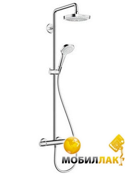 Hansgrohe Croma Select E 180 2 Jet Showerpipe 27256400 Hansgrohe
