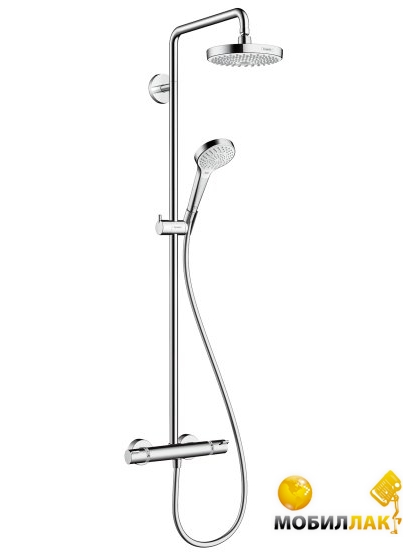Hansgrohe Croma Select S 180 2 Jet Showerpipe белый 27253400 Hansgrohe