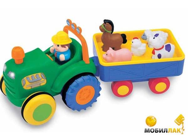 Kiddieland Игрушка на колесах Трактор с прицепом (озвучен по-русски) (049726) Kiddieland