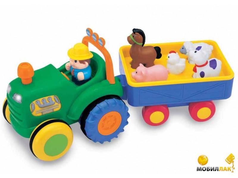 Kiddieland Игрушка на колесах Трактор с трейлером (024753) Kiddieland