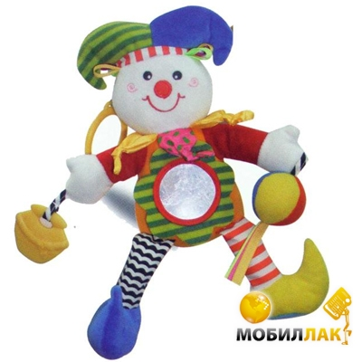 Biba Toys Игрушка-подвеска Счастливый клоун (032MC) Biba Toys