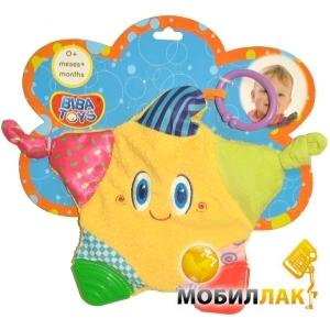 Biba Toys Мультифактурный слюнепоглощающий прорезыватель-подвеска Звездочка (100BR) Biba Toys