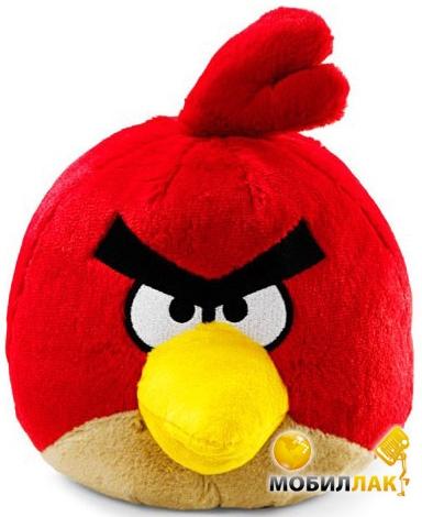 Игрушка мягкая озвученная Angry Birds Птичка красная 12 см (90837)
