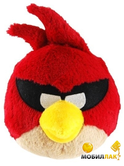 Игрушка мягкая озвученная Angry Birds Space Птичка красная 20 см (92671)