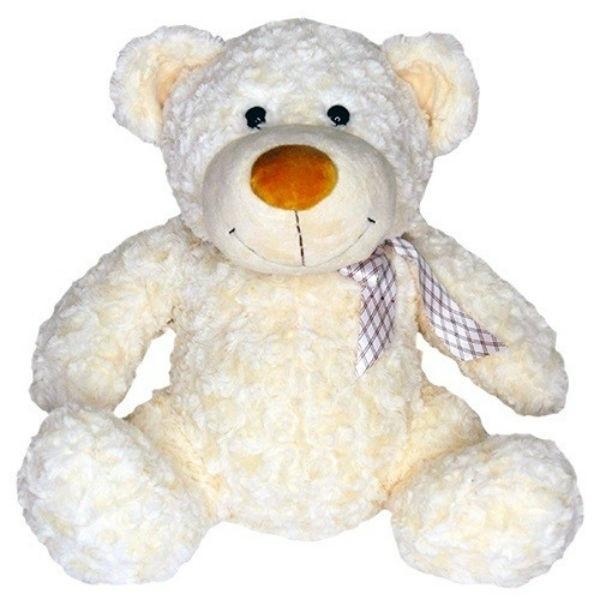 Grand Медведь белый с бантом в клетку 40 см (4002GMG) Grand