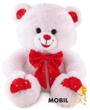 Lava Медведь белый с красным бантом (LF544C) Lava