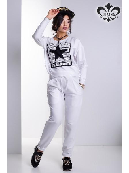 66443921 Спортивный костюм женский Luzana Делайт M (44-46UA) Белый. Купить ...