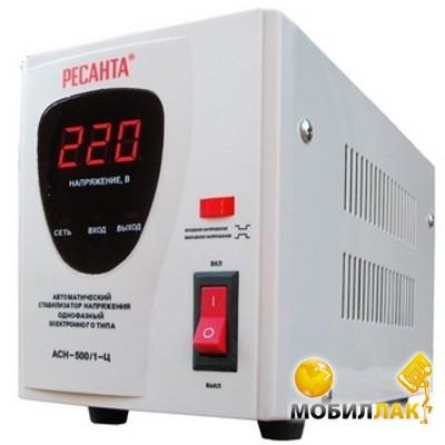 mobilluck.com.ua: Стабилизатор Ресанта АСН - 500/1-Ц по низкой цене в...
