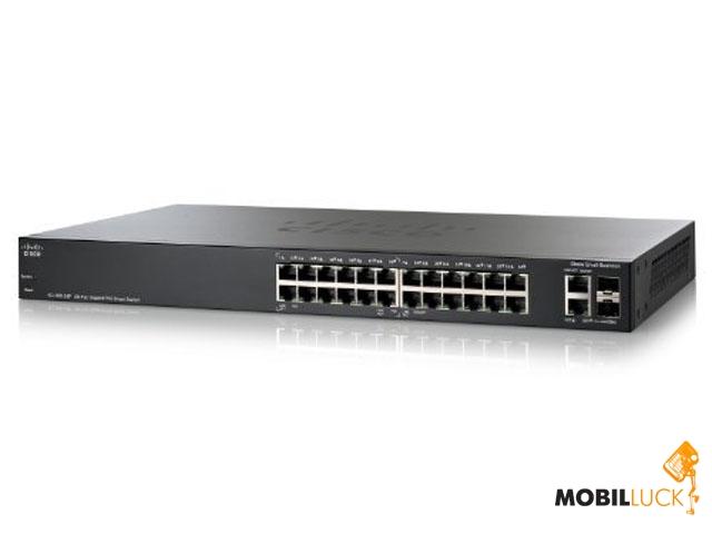 Cisco SB SF 200-24P 24-Port 10/ 100 PoE Smart Switch (SLM224PT-EU) MobilLuck.com.ua 5792.000