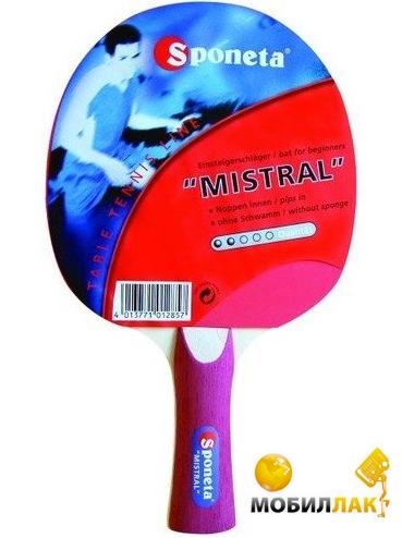 Видеообзор и фото Ракетка для настольного тенниса Sponeta Mistral. Купить  Ракетка для настольного тенниса Sponeta Mistral. Цена 458b2057d7898