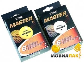 Мячи для настольного тенниса Stiga Master 1-звезда 6 шт 40 мм (белый)