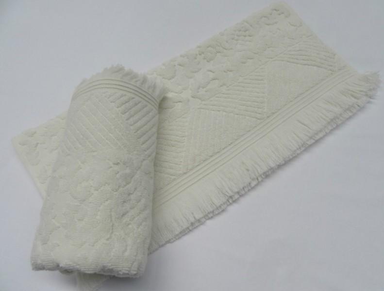 Arya Damask Ayca с бахромой 70x140 см Белое (8680943010872) Arya