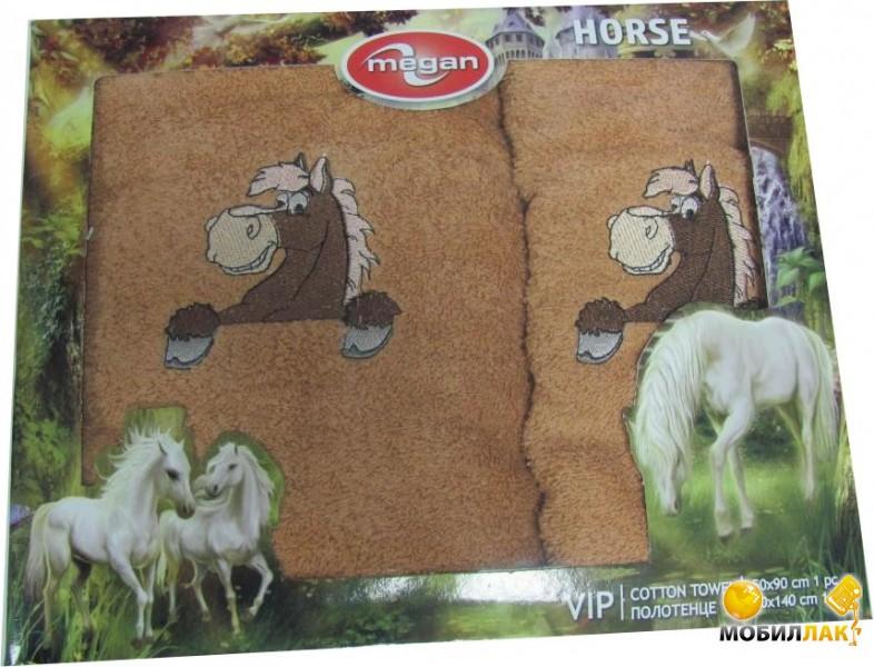 Megan вышивка с лошадкой 50Х90-70Х140 коричневый (3333210000810) Megan