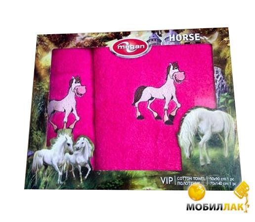 Megan вышивка с лошадкой 50Х90-70Х147 розовый (3333210000742) Megan