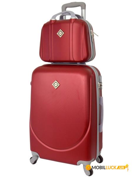 Комплект чемодан + кейс Bonro Smile средний Бордовый (10110206) ... 65362ea96be