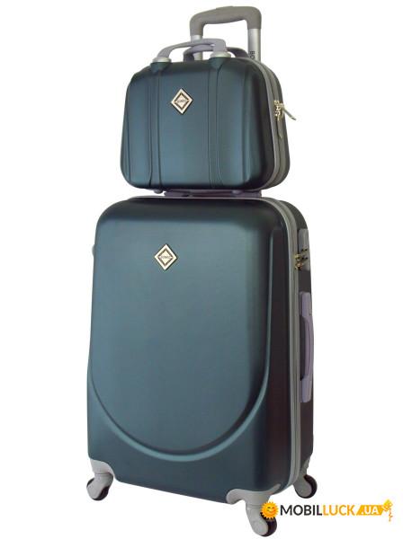 Комплект чемодан + кейс Bonro Smile небольшой Изумрудный (10110101) ... 3833501de66
