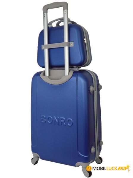 Комплект чемодан + кейс Bonro Smile небольшой Синий (10110103) ... 95abc0ceaf6