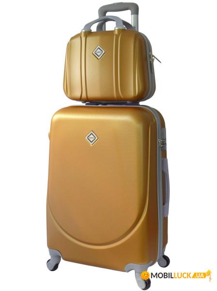 Комплект чемодан + кейс Bonro Smile небольшой Золотой (10110108) ... de0cda5fdd1