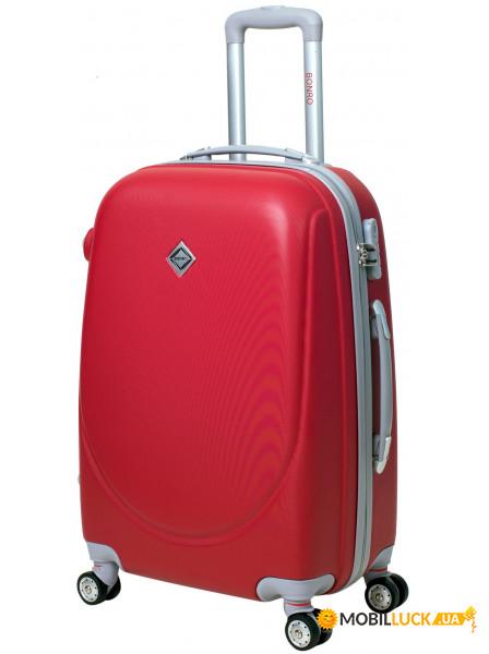 86c3e5a9008a Чемодан Bonro Smile с двойными колесами средний красный (10062404) ...