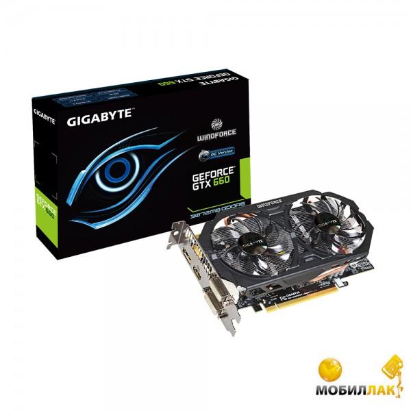 Gigabyte GeForce GTX 660 3GB GDDR5 (192bit) (GV-N660OC-3GD) MobilLuck.com.ua 3502.000