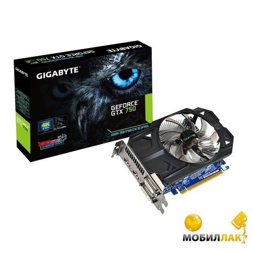 Gigabyte GeForce GTX 750 2048MB GDDR5 (128bit) (GV-N750OC-2GI) MobilLuck.com.ua 2302.000