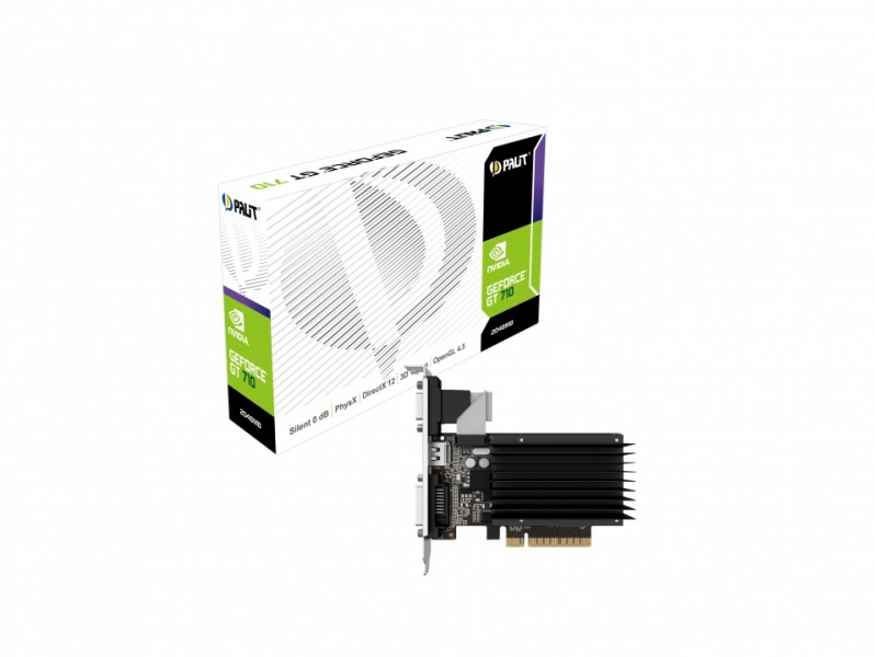 Palit GeForce GF GT 710 2Gb DDR3 (NEAT7100HD46-2080H) Palit