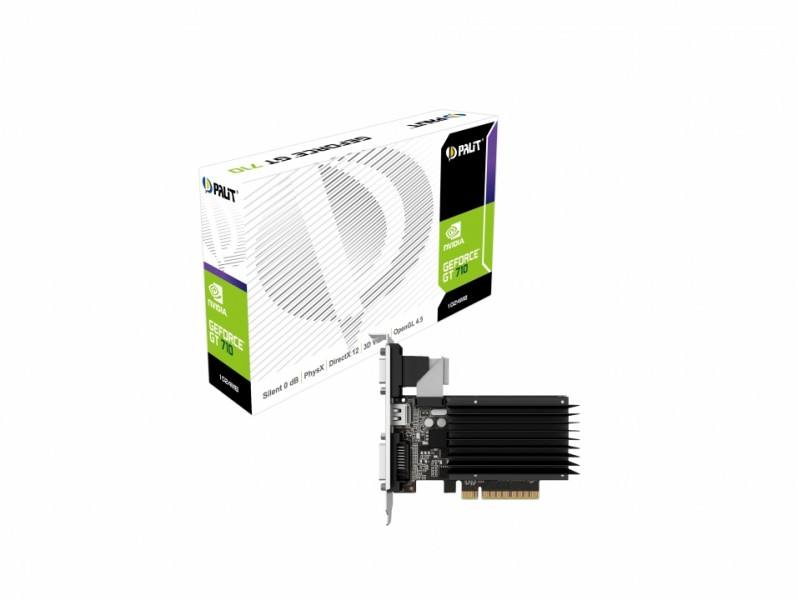 Palit GeForce GT 710 1Gb DDR3 (NEAT7100HD06-2080H) Palit