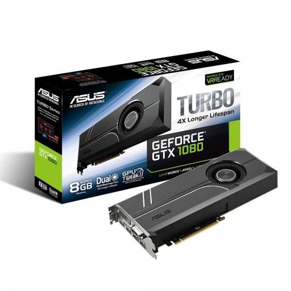 Asus PCI-Ex GeForce GTX 1080 Turbo 8GB GDDR5X 256bit (Turbo-GTX1080-8G) Asus