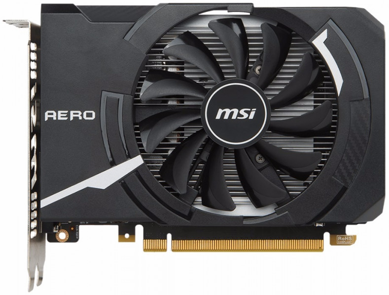 Видеокарта MSI GeForce GTX1050TI 4GB DDR5 AERO ITX OC (GF_GTX_1050_Ti_AERO_ITX4)