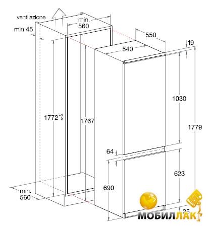 схема холодильника аристон