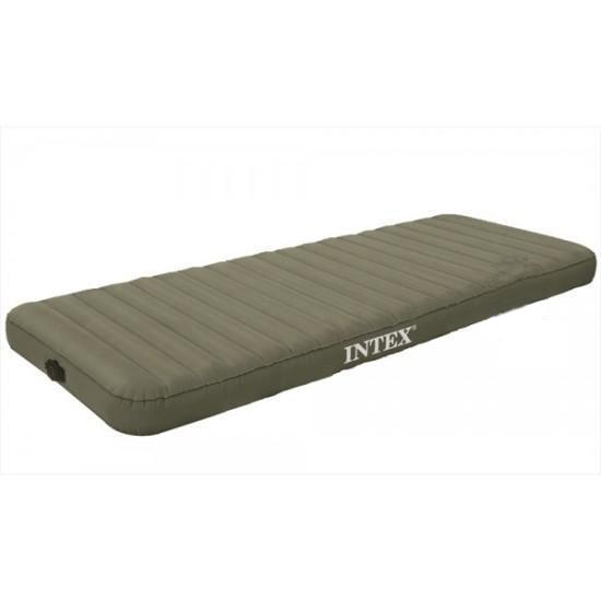 Матрас надувной Intex 68711 Зеленый с сумкой и насосом