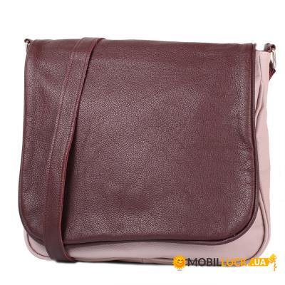 9ada58145776 Женская кожаная сумка Laskara LK-DB278-old-rose-bodeaux. Купить ...