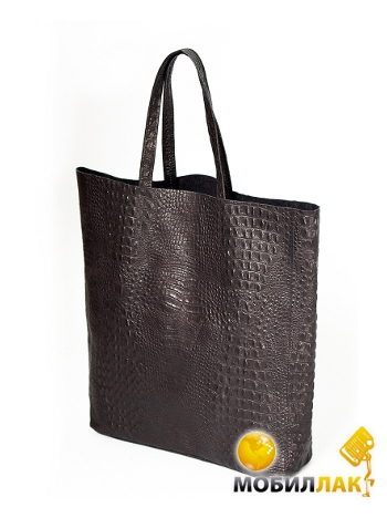 54d15fabb606 Кожаная сумка POOLPARTY City (leather-city-croco-brown). Купить ...