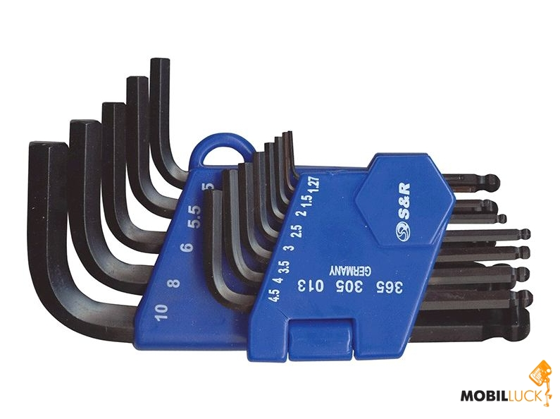 S&R Набор шестигранных ключей 13шт (1.27-10мм) Cr-V (365305013) MobilLuck.com.ua 111.000