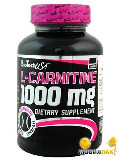 biotech BioTech L-Carnitine 1000 mg 60 tabs (6705)