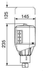 Домовой газорегуляторный пункт ДРП1С с регулятором ARD-10/RF25 на стене
