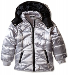 Фото Куртка для девочки Reebok Diamond Quilted Puffer 4года Metallic