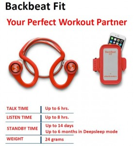 Гарнитура Bluetooth Plantronics BackBeat Fit Red + чехол на руку 3