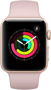 Смарт-часы Apple Watch Series 3 42mm Gold Aluminium Case Pink Sand Sport Band (MQL22LL/A)