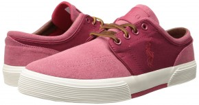 Фото Кеды мужские Polo Ralph Lauren Faxon Low Pumice Canvas (43.5UA 10.5US 29см) Red