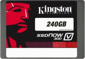 "Фото SSD-накопитель Kingston 2.5"" 240GB SATAIII MLC (Notebook Kit) (SV300S3N7A/240G)"