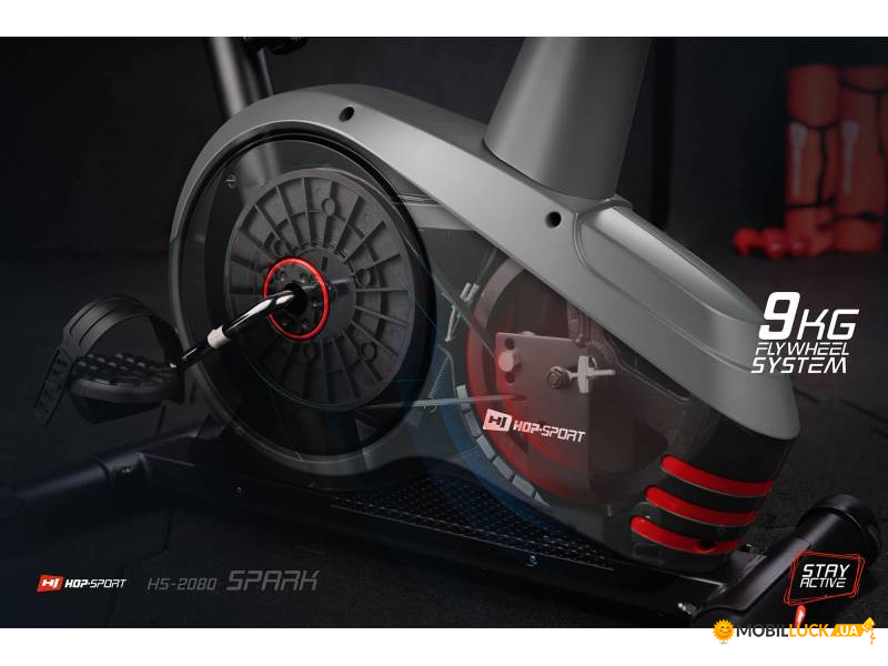 Велотренажер Hop-Sport HS-2080 Spark Gray/Red 2018