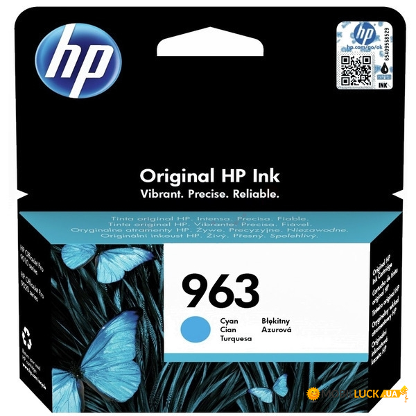 Картридж HP 963 Cyan Original Ink Cartridge (3JA23AE)