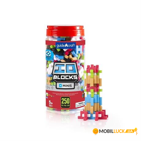 Конструктор Guidecraft IO Blocks Minis, 250 деталей (G9611)