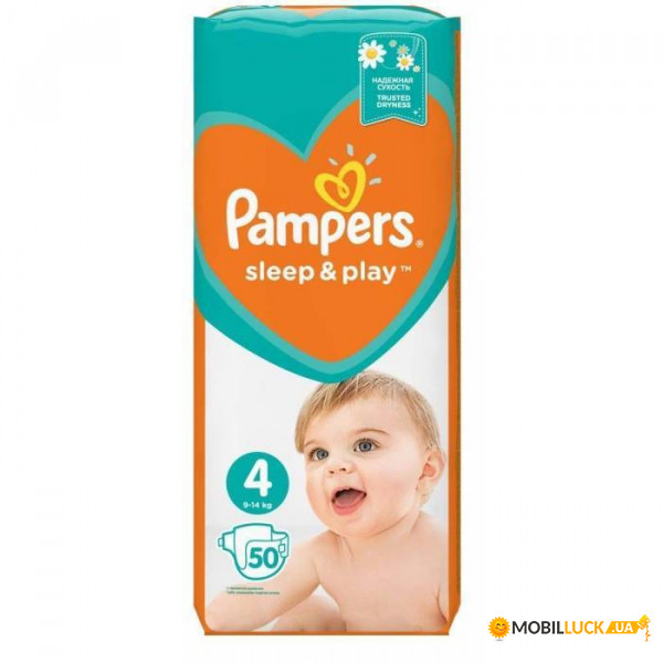 Подгузники Pampers Sleep&Play 4 (9-14 кг), 50 шт 224242/669056