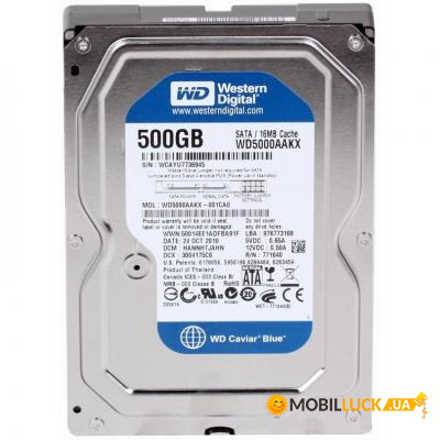 Жесткий диск Western Digital  3.5  500Gb (WD5000AAKX)