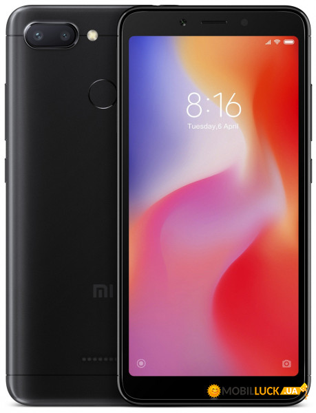 Смартфон Xiaomi Redmi 6 4/64Gb Black *CN