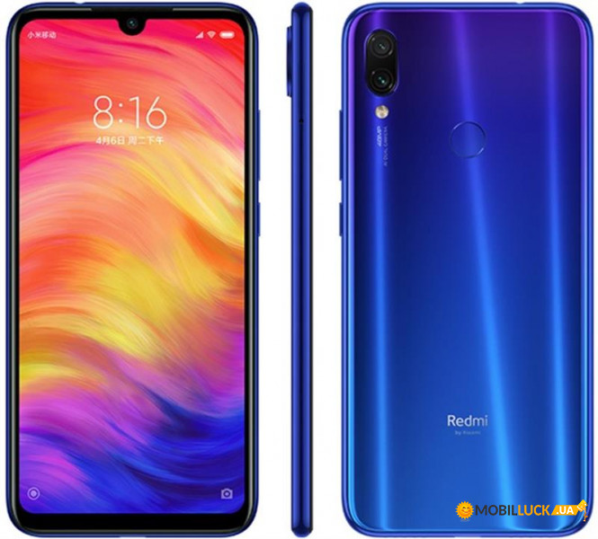 Смартфон Xiaomi Redmi Note 7 4/128GB Neptune Blue *EU